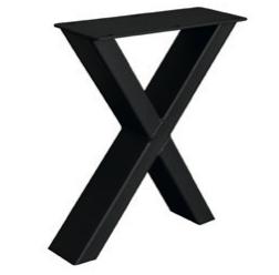 Couch- / Beistelltisch Metalluntergestell X-Fineline (2 Stück)