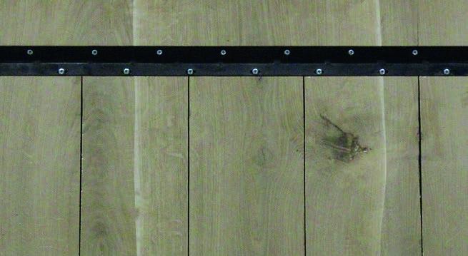 Eiche Tischplatte - Old Style mit V-Fuge
