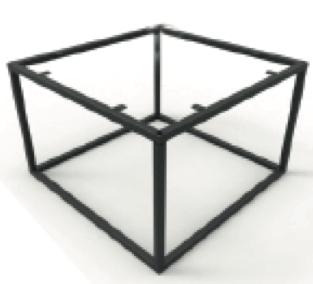 Couch- / Beistelltisch Metalluntergestell quadratisch