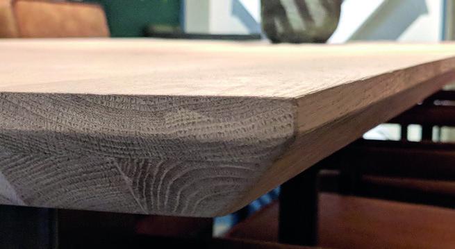 Eiche Tischplatte - Twin Line - Die günstige Variante