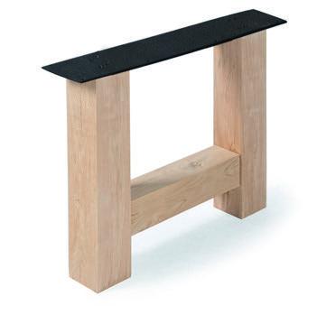 Tischuntergestell Holz H Regular (2 Stück)