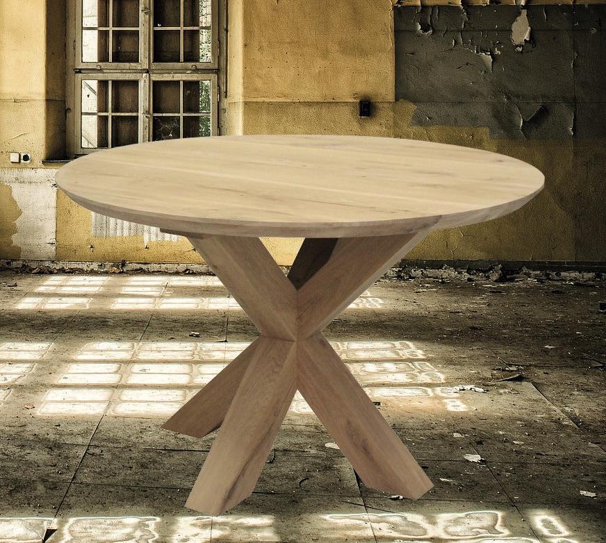 Eiche Tischplatte - Rund mit Schweizer Kante
