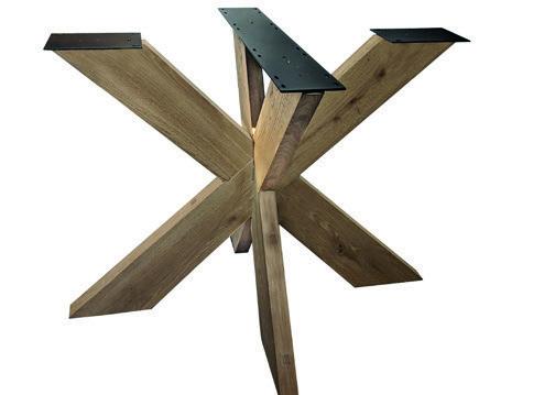Tischuntergestell Holz Rex 130 x 130 cm
