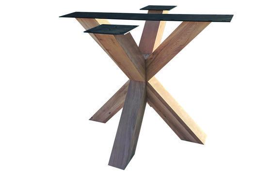 Tischuntergestell Holz Rex 90 x 90 cm