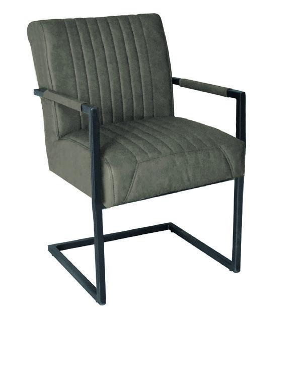 Stuhl Robert XL Grey mit Armlehnen