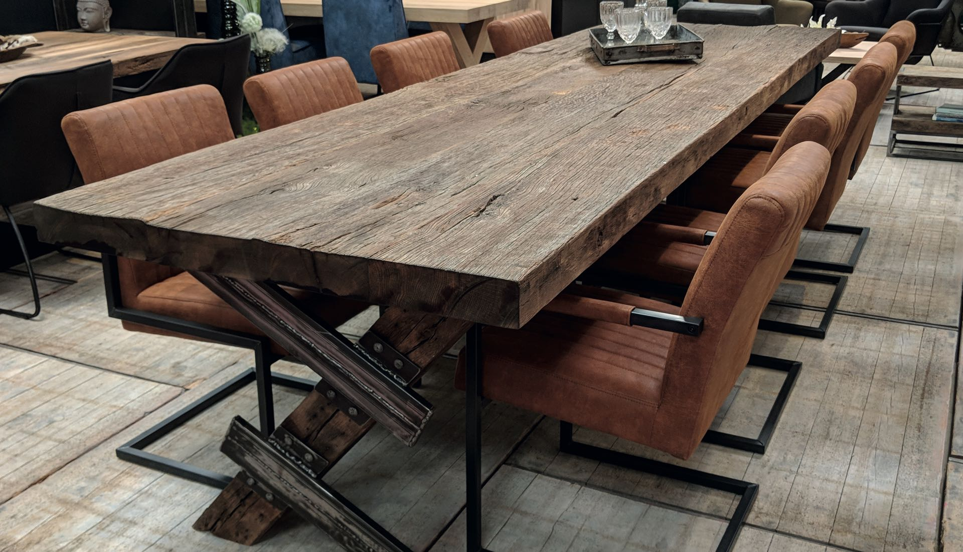 Altholz Tischplatte Amsterdam