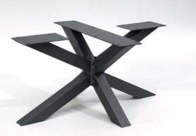 Couch- / Beistelltisch Metalluntergestell Rex